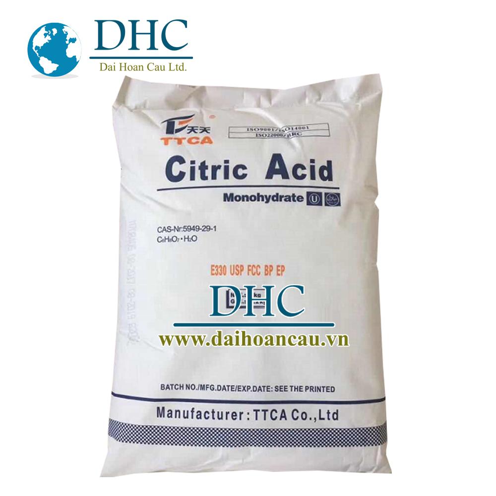 Citric acid TTCA bao 25kg